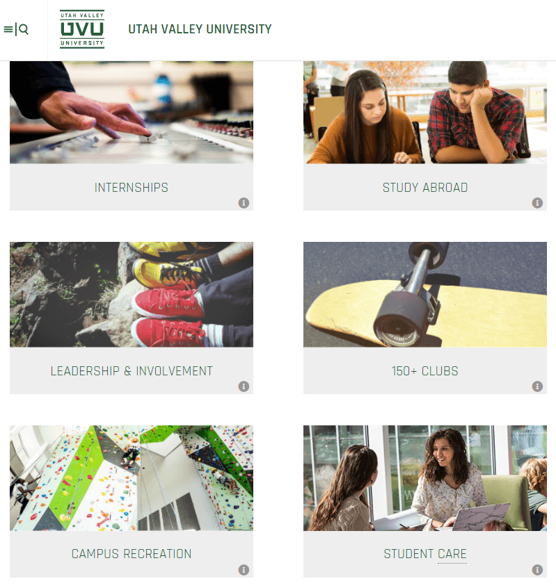 Utah Valley Univeristy is a Modern Campus customer.